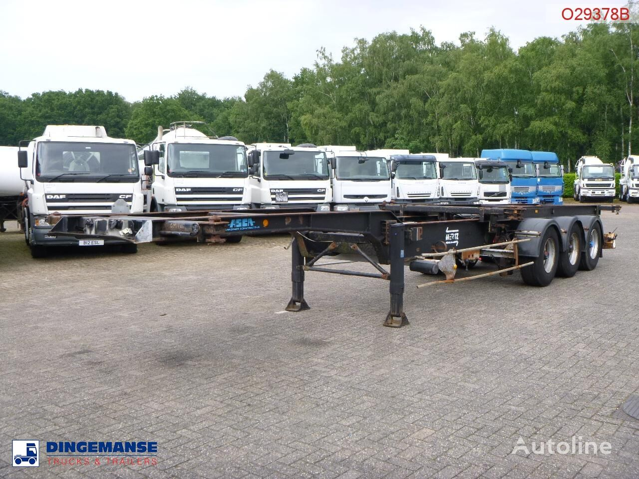 ASCA 3-axle container trailer 40 ft Containerauflieger