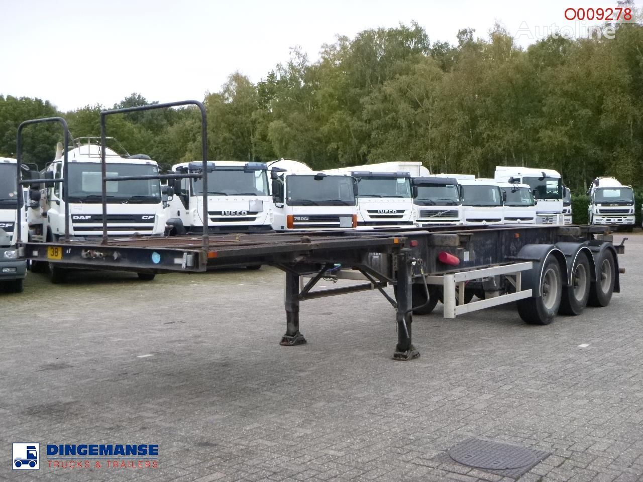 Overlander 3-axle container trailer 10-20-30 ft Containerauflieger