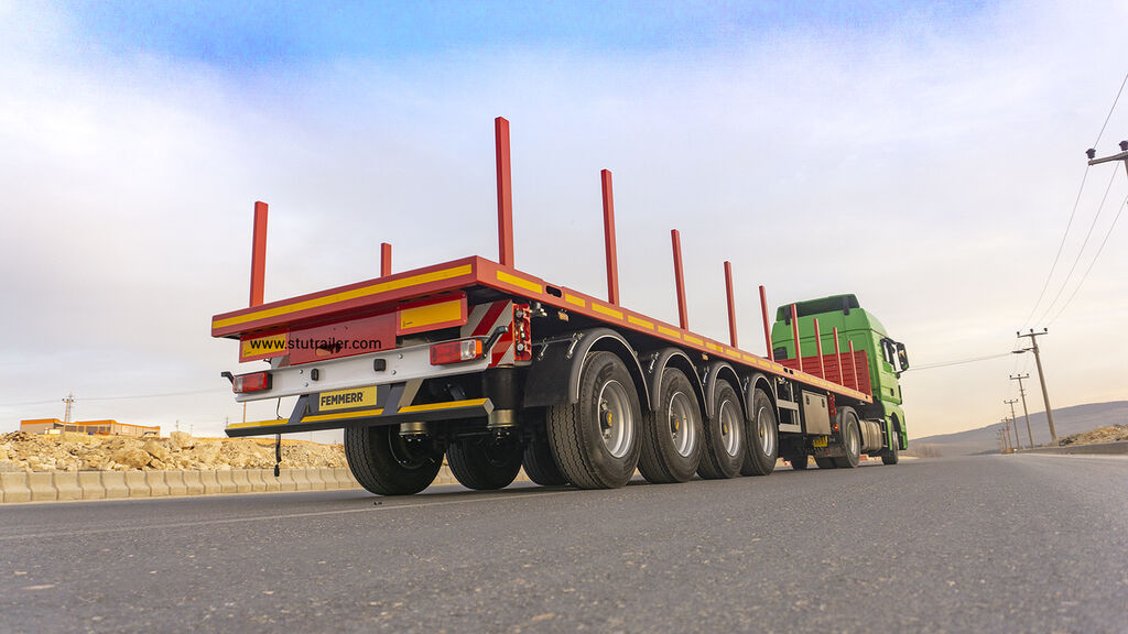 STU 4 axle Container Carrier Flatbed Trailer Plattform Auflieger