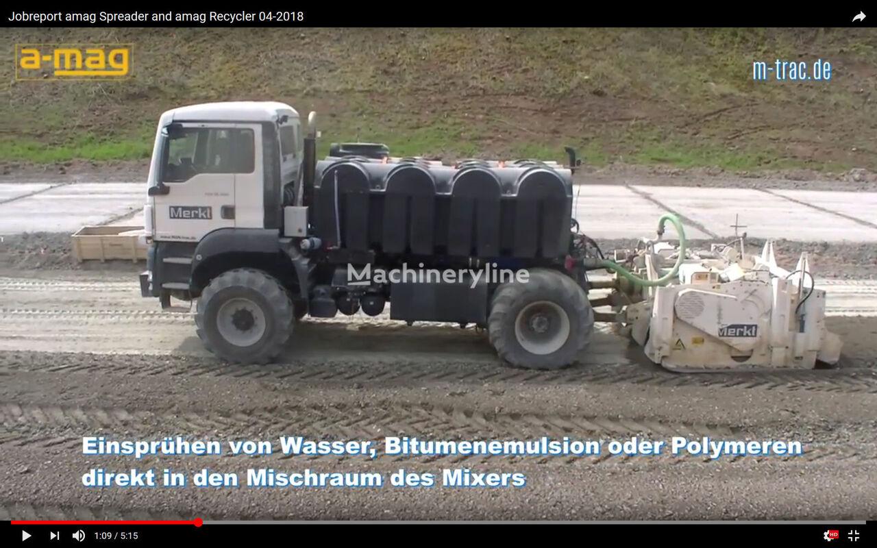 WIRTGEN MAN Recyler with Wirtgen WS 250 Asphaltrecycler