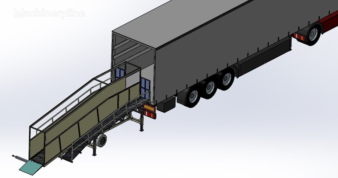 neue SAURUS Cattle Loading Ramp Mobile Verladerampe