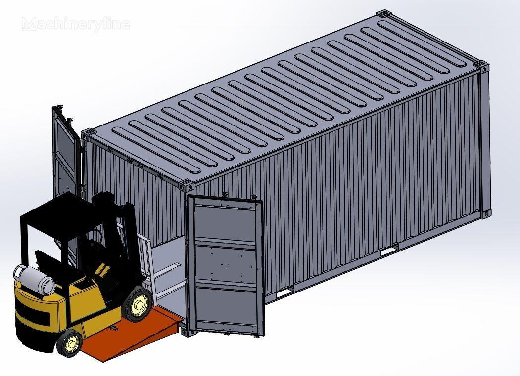neue SAURUS Container Loading Ramp mobile Verladerampe