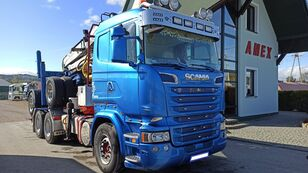 SCANIA R 500 Holztransporter LKW + Holztransporter Anhänger