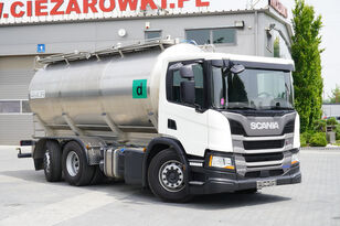 SCANIA P410 , E6 , 6X2 , 20.000km ! ! ! , 2 units , steer/lift axle , 3 Milchtankwagen