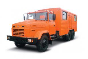 neuer KRAZ 65053 мастерская  Militär LKW